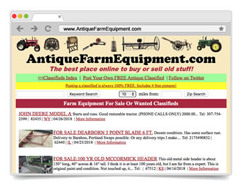 Antique Farm Equipment | FREE Classifieds Ads to BUY & SELL